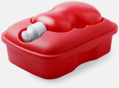 Röd Matlåda med matchande vattenflaska - med reklamtryck