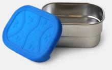 Liten, läcksäker matburk i rostfritt stål med reklamlogo