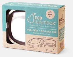 Silver Ovala lunchboxar i rostfritt stål med reklamlogo