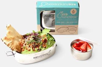 Ovala lunchboxar i rostfritt stål med reklamlogo