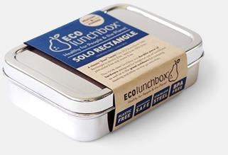 Silver Större matlåda i rostfritt stål med reklamlogo
