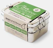 3-delade matlådor i rostfritt stål med reklamlogo
