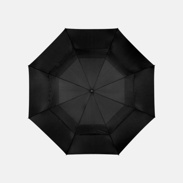 """Svart 32"""" golfparaplyer från Slazenger med reklamtryck"""
