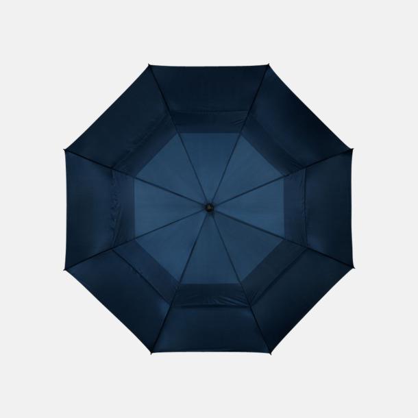 """Marinblå 32"""" golfparaplyer från Slazenger med reklamtryck"""