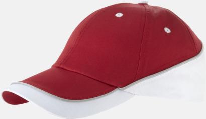 Röd / Vit 6-panels bomullskeps från Slazenger med reklamlogo