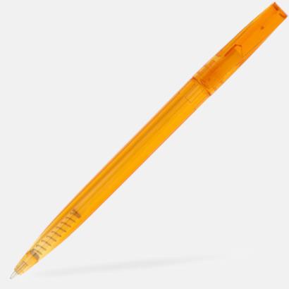 Orange Billiga bläckpennor med reklamtryck