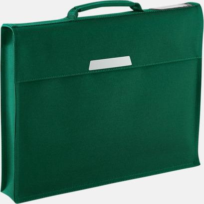 Bottle Green (utan rem) Bokväskor med eller utan axelrem - med reklamtryck