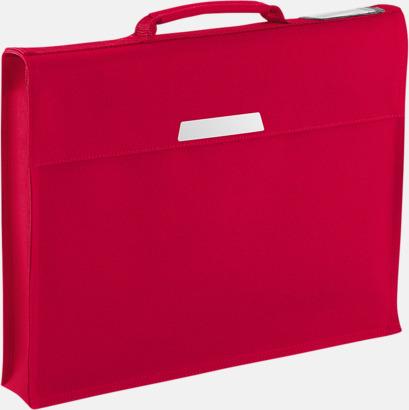 Classic Red (utan rem) Bokväskor med eller utan axelrem - med reklamtryck