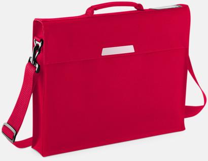 Classic Red (med rem) Bokväskor med eller utan axelrem - med reklamtryck