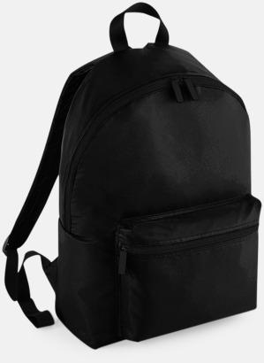Jet Black (endast vuxen, se tillval) Klassisk ryggsäck i 2 storlekar med eget tryck