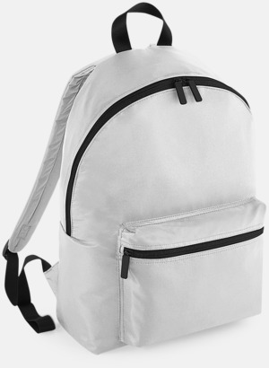 Silver (endast vuxen, se tillval) Klassisk ryggsäck i 2 storlekar med eget tryck