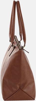 Handväskor i konstläder med reklamtryck