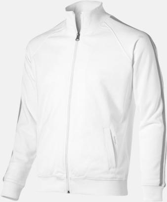 Vit (herr) Sweattröjor från Slazenger med reklamtryck