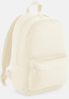 Beige Enfärgade ryggsäckar med reklamtryck