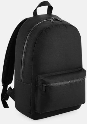 Svart Enfärgade ryggsäckar med reklamtryck