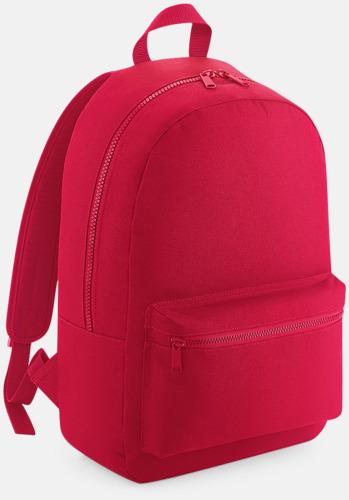 Classic Red Enfärgade ryggsäckar med reklamtryck