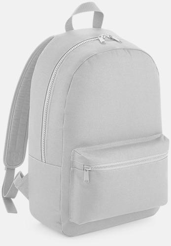 Ljusgrå Enfärgade ryggsäckar med reklamtryck