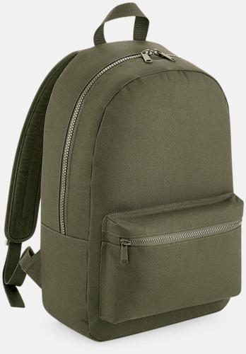 Militärgrön Enfärgade ryggsäckar med reklamtryck