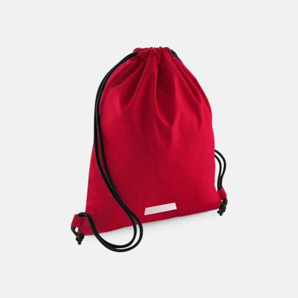 Classic Red Gympapåsar med namnlappar & reflexer - med reklamtryck
