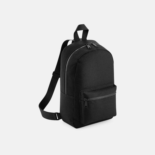 Svart Små, snygga ryggsäckar med reklamtryck