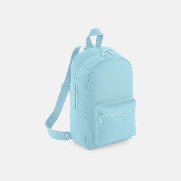 Powder Blue Små, snygga ryggsäckar med reklamtryck