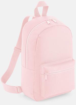 Powder Pink Små, snygga ryggsäckar med reklamtryck