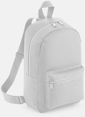 Silver Små, snygga ryggsäckar med reklamtryck