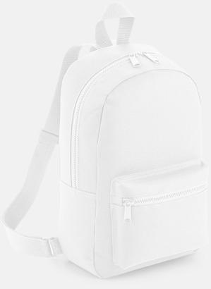 Vit Små, snygga ryggsäckar med reklamtryck