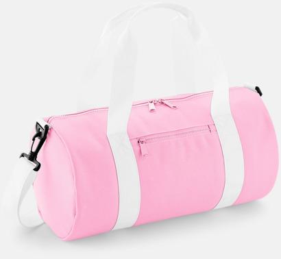 Classic Pink/Vit Små sportväskor på 12 liter med reklamtryck