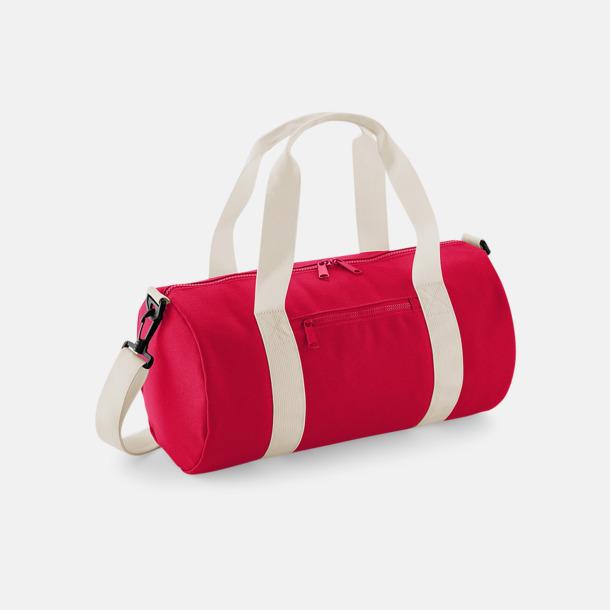 Classic Red/Off White Små sportväskor på 12 liter med reklamtryck