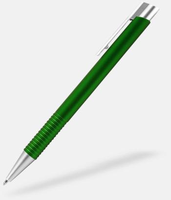 Grön Fina plastpennor med reklamtryck