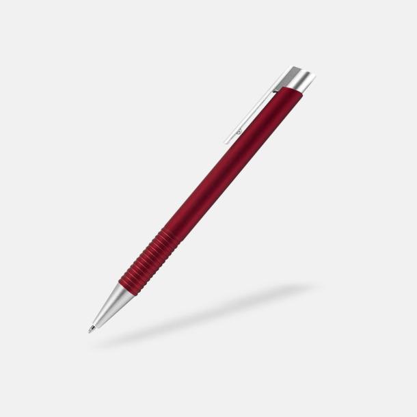 Röd Fina plastpennor med reklamtryck