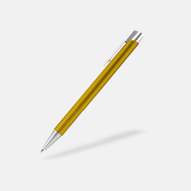 Gul Fina plastpennor med reklamtryck