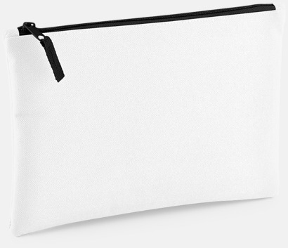 Vit / Svart Etuier i polyester med reklamtryck