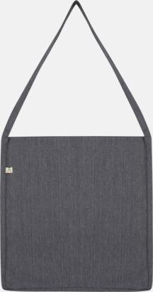 Mélange Dark Heather Recycled sling tygkassar i woven twill med reklamtryck