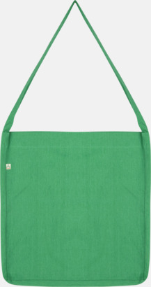 Mélange Green Recycled sling tygkassar i woven twill med reklamtryck