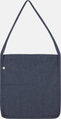 Mélange Navy Recycled sling tygkassar i woven twill med reklamtryck