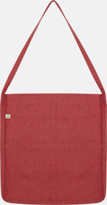Mélange Red Recycled sling tygkassar i woven twill med reklamtryck