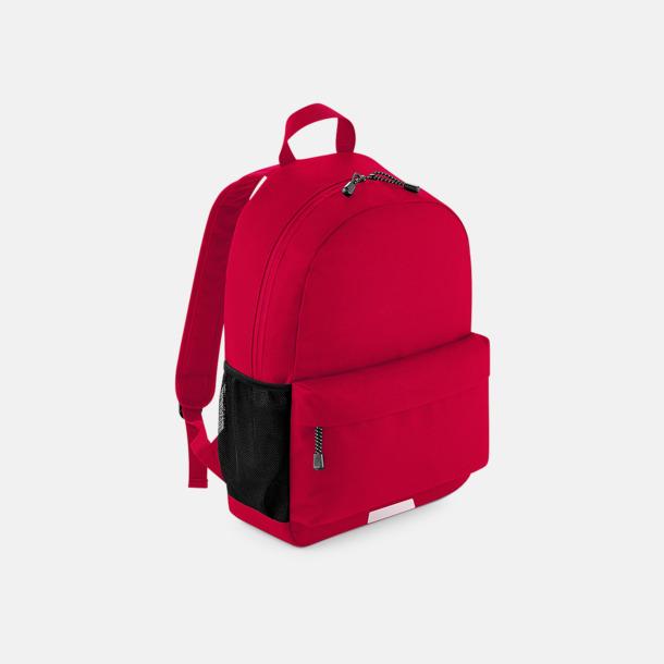 Classic Red Ryggsäckar med reflexer & namnlapp - med reklamtryck