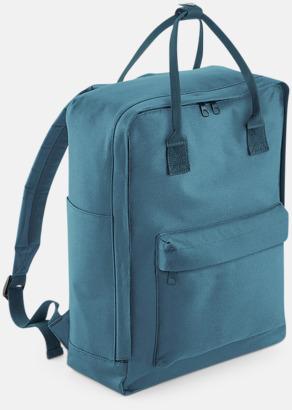 Airforce Blue Trendiga stadsryggsäckar med reklamtryck