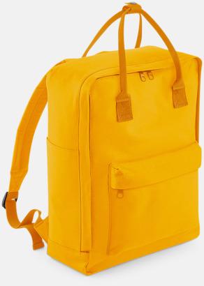 Mustard Trendiga stadsryggsäckar med reklamtryck