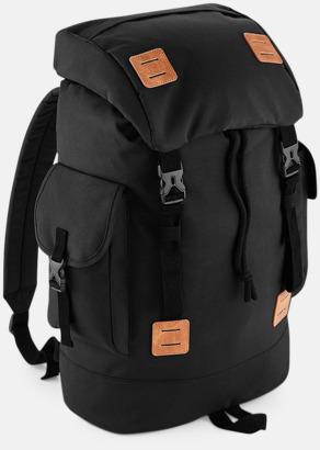 Svart/Tan Campingryggsäckar med reklamtryck