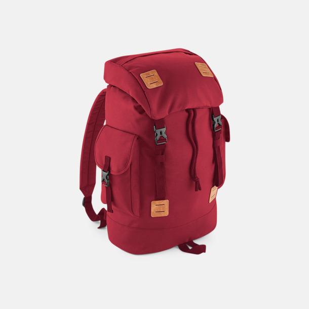 Claret/Tan Campingryggsäckar med reklamtryck