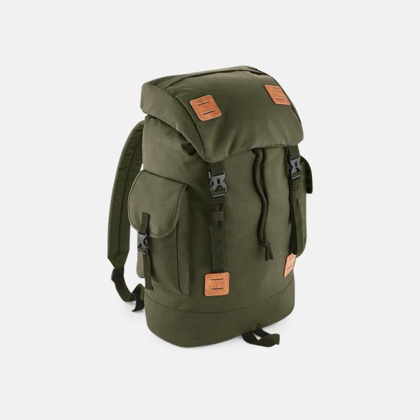 Militärgrön/Tan Campingryggsäckar med reklamtryck