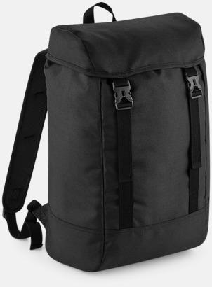 Svart Rejäla ryggsäckar med reklamtryck