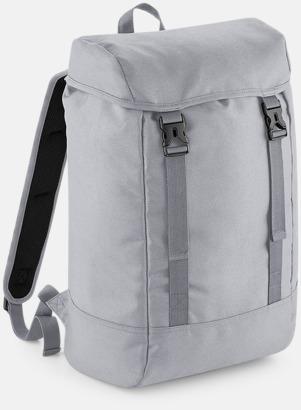Grå Rejäla ryggsäckar med reklamtryck
