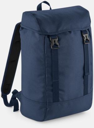 Marinblå Rejäla ryggsäckar med reklamtryck