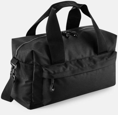 Svart (40 liter) Resväskor i 2 storlekar med reklamtryck