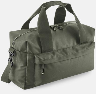 Olivgrön (40 liter) Resväskor i 2 storlekar med reklamtryck