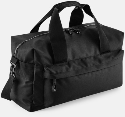 Svart (60 liter) Resväskor i 2 storlekar med reklamtryck